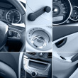 Stock Photo: Car interior collage tinted