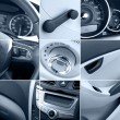 Car interior collage tinted — Stock Photo