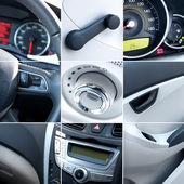 Car interior collage — Stock Photo
