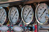 Meters and guages — Stock Photo