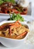 Chicken yellow curry — Stock Photo