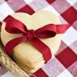 Heart shaped cookies with a red ribbon — Stock Photo #10342212