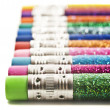 Stock Photo: Colorful pencils covered in glitter