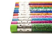 Colorful pencils covered in glitter — Stock Photo
