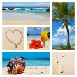 Collage of tropical island scenes — Stock Photo #10365149