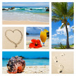 Collage of tropical island scenes — Stock Photo
