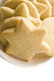 Star shaped homemade cookies in a white plate — Stock Photo