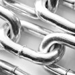 Abstract background of a silver chain — Stock Photo #10370186