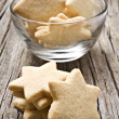 Sugar coated shortbread cookies in star shapes — Stock Photo #10372434