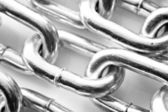 Abstract background of a silver chain — Stock Photo