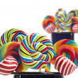 Sugar candy cane lollipop collection — Stock Photo
