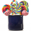 Sugar candy cane lollipop collection — Stock Photo #10517095