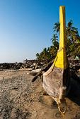 Boat at the Kerala beach — Stock Photo
