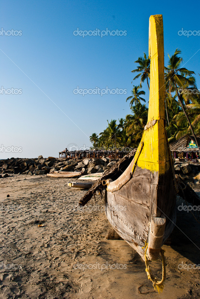 Captured at small fisherman village, winter season in India — Stock Photo #9647840