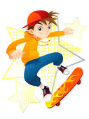 Skater Boy — Stock Vector