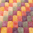 Background of candied fruit jelly sweets — Stock Photo