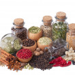 Stock Photo: Still life of different spices and herbs