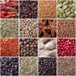 Spices seamless texture — Stock Photo