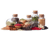 Still life of different spices and herbs — Stock Photo