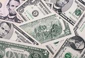 Background of small dollar bills — Stock Photo