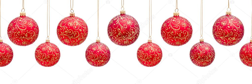 Fondo horizontal os colgando bolas de navidad fotos de stock andriigorulko 8600880 - Fotos de bolas de navidad ...