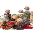 Still life of different spices and herbs - Stock Photo