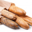 French baguette with sesame and poppy seeds - Stock Photo