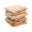 Sesame cookies isolated on a white — Stock Photo