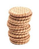Creme cookies isoliert auf weiss — Stockfoto