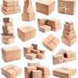 Collection of differend parcels - Stock Photo