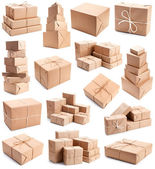 Collection of differend parcels — Stock Photo