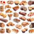 Stock Photo: Pastry collection isolated on white