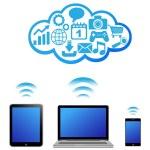 Vector cloud computing concept — Stock Vector