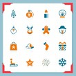 Stock Vector: Christmas icons | In a frame series