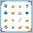 Royalty-Free Stock Vector Image: Food icons | In a frame series