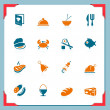 Food icons | In a frame series — Stock Vector