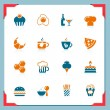 Food and drinks icons | In a frame series — Stok Vektör