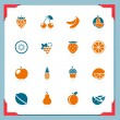 Royalty-Free Stock Immagine Vettoriale: Fruits icons | in a frame series