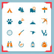 Royalty-Free Stock Vector Image: Camping and hunting icons | In a frame series