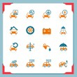 Car service icons | In a frame series - Stock Vector