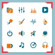 Royalty-Free Stock Vector: Music icons | In a frame series