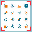 Stock Vector: Music icons | In a frame series