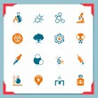 Schience icons | In a frame series — Stock Vector