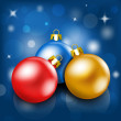 Christmas baubles background - Stock Vector