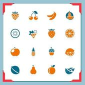 фрукты иконы   в серии кадра — Cтоковый вектор