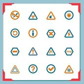 Warning and information signs — Stock Vector