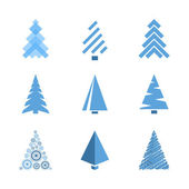 Design Christmas trees — Stock Vector