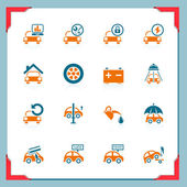 Car service icons | In a frame series — Stock Vector