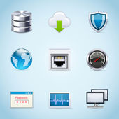 Network icons — Stock Vector
