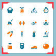 Stock Photo: Fitness icons | In a frame series